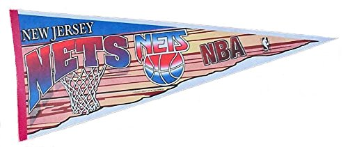Licensed Lifestyles New Jersey Nets Pennant Flag