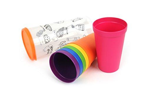 Lock & Lock Picnic-Juego de Vasos (6Piezas)-sin BPA-Vaso Outdoor Taza con depósito...