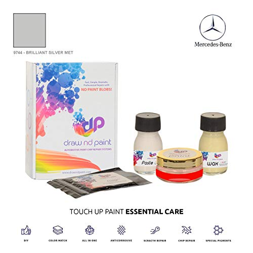 DrawndPaint for/Mercedes Sprinter/Brilliant Silver Met - 9744 / Touch-UP Sistema DE Pintura Coincidencia EXACTA/Essential Care
