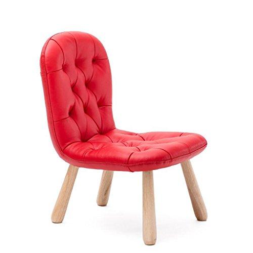 Xuan - Worth Having Cuir Rouge Mat Solide Bois Enfant Chaise Chaise Chaise Basse Tabouret Maternelle Chaise d'écriture Chaise d'apprentissage canapé Chaise
