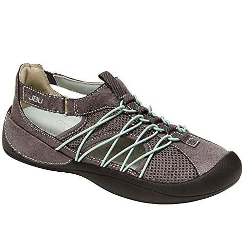 JBU by Jambu womens Sizzle Water Shoe, Charcoal/Pale Lime, 8 US