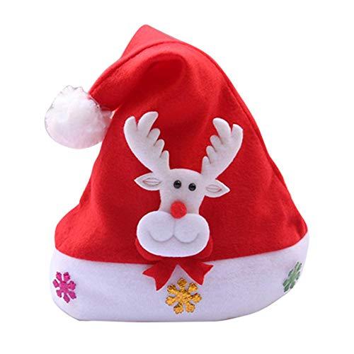 Kerstmuts, verlicht, Kerstmuts, Kerstmuts, Kerstmuts, Kerstmuts, Kerstmuts, Kerstmuts, met haarband, voor volwassenen en kinderen. C(Enfant-No Lumineux)