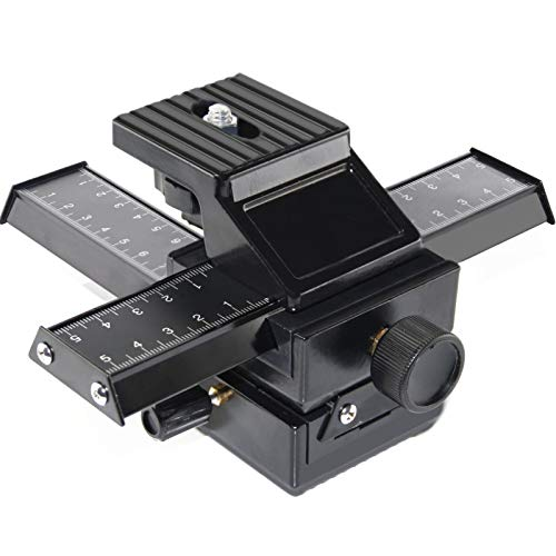 """EXMAX Pro 4 Way Macro Focusing Focus Rail Slider Shooting for Digital SLR Camera and DC with Standard 1/4"""" Screw Hole"""