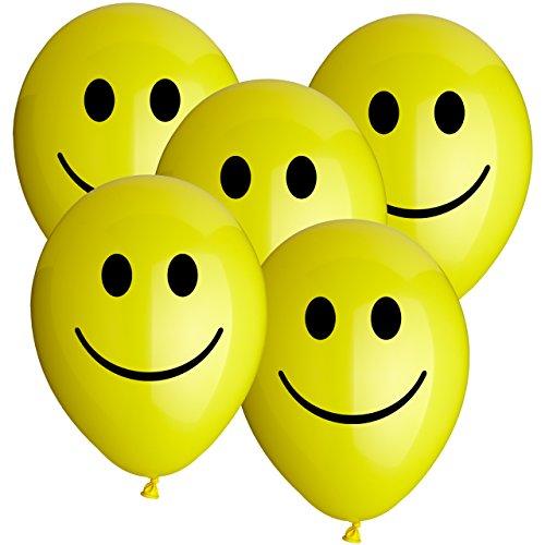 ballon boutique Villingen 30 Luftballons Smiley Gelb 30cm Durchmesser