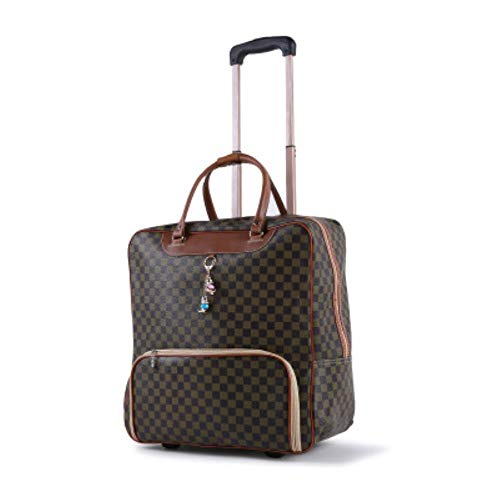 K-ONE Women's Suitcase Suitcase, Waterproof Cabin Oxford Cloth, Trolley Car, Hand Luggage, Trailer Box, Universal Wheel Trolley Case,A2,16