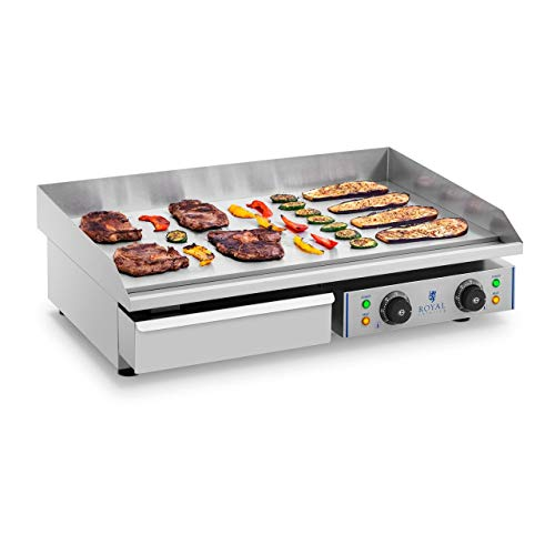 Royal Catering Plancha Grill Electrica Fry Top Parrilla Electrica Industrial RCEG-75 (2...