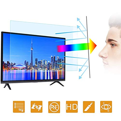 "[2020 New] 32 in Blue Light TV Screen Protector - Anti Blue Light & Glare Filter Film Eye Protection Blue Light Blocking Screen Protector for 32""LCD, LED, OLED & QLED 4K HDTV Display 16:9"