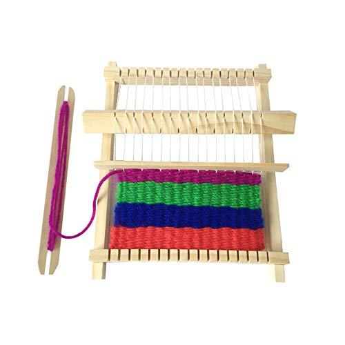 Webrahmen Kit Holz Handgewebte Strickmaschine für Anfänger und Kinder DIY Multi Craft Pädagogisches Spielzeug