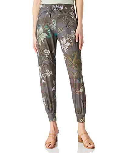 Desigual Pant Cropped Camo Pantalones Informales, Verde, L para Mujer