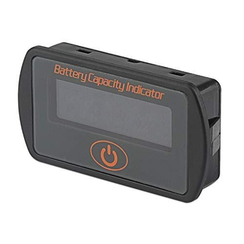 Battery Capacity Indicator, DROK DC 5V- 66V Lead Acid Battery Percentage Voltage Tester 12V 24V 36V Electric Quantity Volt Detector Meter Panel Gauge Lithium Battery Status Monitor for Car Vehicle