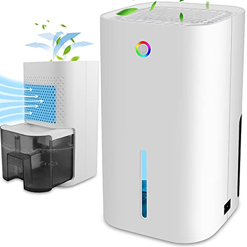 Dehumidifiers for Home Small Quiet Dehumidifier 30oz 850ml Portable Electric Dehumidifier with Smart Features Auto-Off for Damp Home, Room, Bedroom, Bathroom Wardrobe, Basement, Office