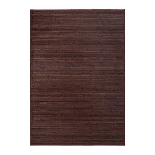 Lola Home Alfombra para salón de bambú (140 x 200 cm, Chocolate)
