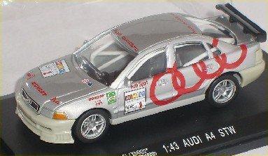 High Speed A-U-D-I A4 A 4 DTM STW 1998 Silber Nr 1 1/43 Modellauto Modell Auto