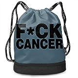 MINISA Fuck Cancer トレッキング リュック バンドルバックパック 軽量 カジュアル 登山 旅行 遠足 アウトドア キャンプ 子供 通勤 通学 プレゼント 大容量 男女兼用