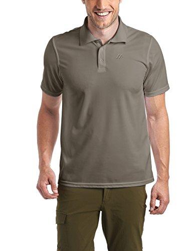 Maier Sports Herren Polo 1/2 Arm T-shirt, braun, Gr. 3XL