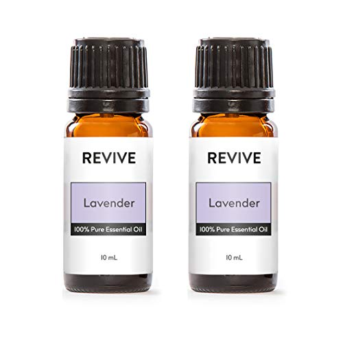 Revive Essential Oils Lavender 2 Pack - 100% Pure Therapeutic Grade, for Diffuser, Humidifier, Massage, Aromatherapy, Skin & Hair Care - Cruelty Free - Unrefined Oils with No Fillers.