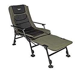 Reclining Camping Chair With Adjustable Feet