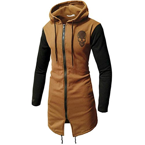 KingSize Men's Big & Tall Wool-Blend Long Overcoat - Big - XL, Charcoal Herringbone Coat