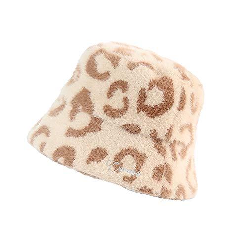 QTYJQ Mode Eimer Hut Kurze Traufe Wind dicht warm faltbar Nicht verformt Eimer Hut Fischer Hut verdicken einfarbige Farbe flauschig plusha breit brich