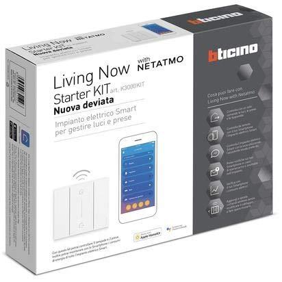 Kit bticino Starter Living Now Apple Homekit para la práctica de luces y enchufes