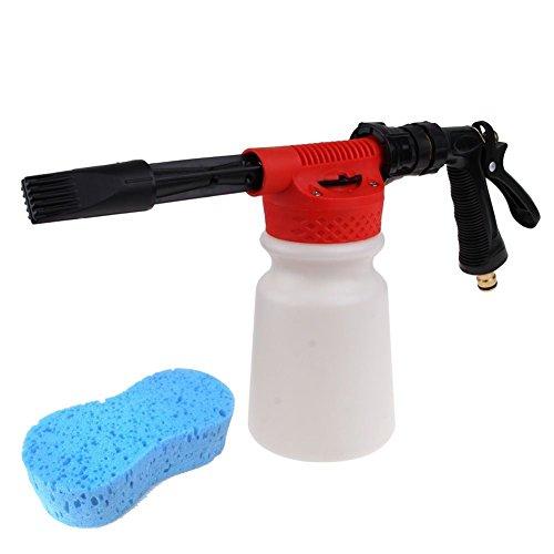 Nuzamas Schaum Reinigungspistole mit Gartenschlauchanschluss zum Autowaschen mit Seifen-Hochdruckreiniger plus Schwamm