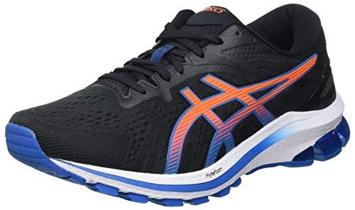 ASICS Herren GT-1000 10 Road Running Shoe, Black/Reborn Blue, 42.5 EU