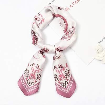 YDMZMS contrasterende geometrie sjaal vierkant haarband zijden sjaal vrouwelijk wilde vlieghulp professionele kleine decoratieve sjaal 903