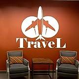 Viajes decoración de la sala de estar pegatinas de pared avión decoración de la casa pegatinas de ventana vacaciones vela niña niño niño habitación adolescente