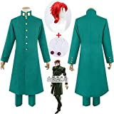 HAODA Anime JoJo JoJo's Bizarre Adventure Cosplay Noriaki Kakyoin Cosplay Costume Anime Cosplay Outfits Suits Halloween Party Costumes (Color : Earring, Size : L)