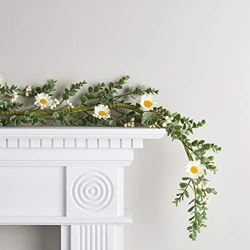 Lights4fun Guirnalda Decorativa Artificial con Flores de Primavera de 1,5m para Adorno de Interiores
