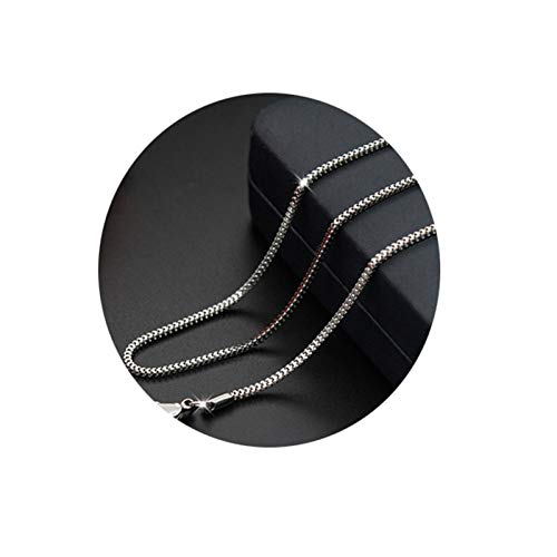 Bishilin Edelstahl Herren Halskette ohne Anhänger Fischgrätkette 1.7 MM Partner Kette Silber Freundschaftskette 45 cm