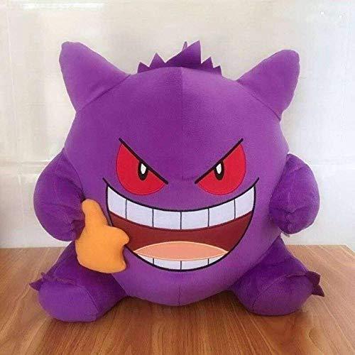 N/ A Anime Charakter Coole Gengar Plüsch Puppe Kissen Beutel-Anhänger Spit Heraus Zunge Lustigen Ausdruck Stoffspielzeuge Sammlung Geschenke (Color : Gengar C 38cm)