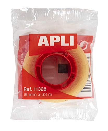 Apli 11328, Cinta Adhesiva Transparente (19 mm x 33 m)