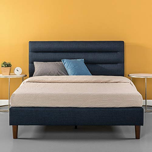 ZINUS Kiernan Upholstered Platform Bed Frame / Mattress Foundation / Wood Slat Support / No Box Spring Needed / Easy Assembly, Full