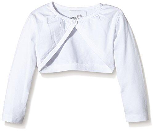 Eisend Kids e.K. Happy Girls Mädchen Jersey Bolero mit Raffung am Halsausschnitt Einfarbig, Weiß (weiß 10), Gr. 128 (Herstellergröße: 7 Jahre)