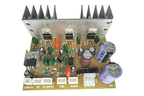 ERH INDIA 2.1 Home Theater Amplifier Board 100 Watt with Bass Boost Support TDA2030 Based with Free Connector Wires for All Ports