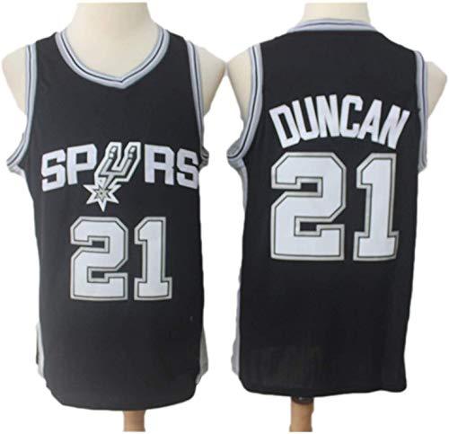 BPZ Camisetas De La NBA para Hombre - Spurs 21# Tim Duncan Camiseta De Baloncesto De La NBA - Camiseta Deportiva De Baloncesto Sin Mangas Transpirable De Ocio,1,M (170~175CM / 65~75KG)
