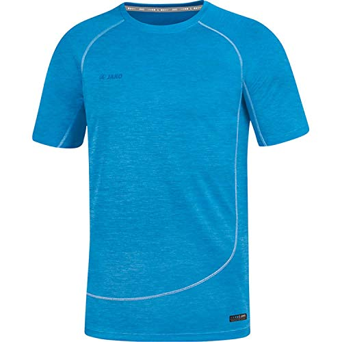 JAKO Herren T-shirts T-Shirt Active Basics, JAKO blau meliert, XL, 6149