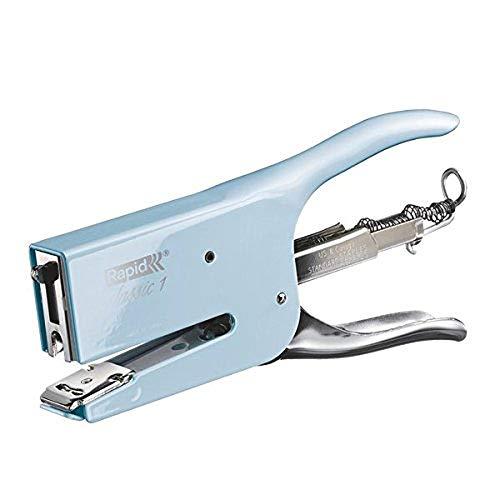 Rapid Retro K1 Cucitrice a Pinza , Compatibile con i Punti Metallici 24/6 e 24/8 mm, Capacità 50 Fogli, Metallo, Fondant Blue, 5000492
