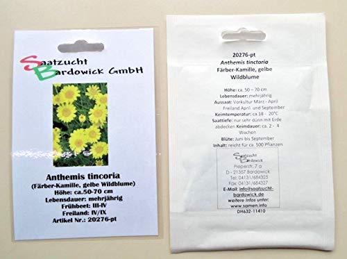 Färber-Kamille Wildblume mehrjährig Blumensamen Naturgarten Saatgut für ca. 500 Pfl. Färber-Hundskamille
