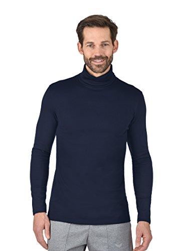 Trigema Herren Rollkragen-Shirt Pull, Bleu (Navy 046), Small Homme