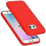 Cadorabo Funda para Samsung Galaxy S6 Edge Plus en Liquid Rojo - Cubierta Proteccíon de Silicona...