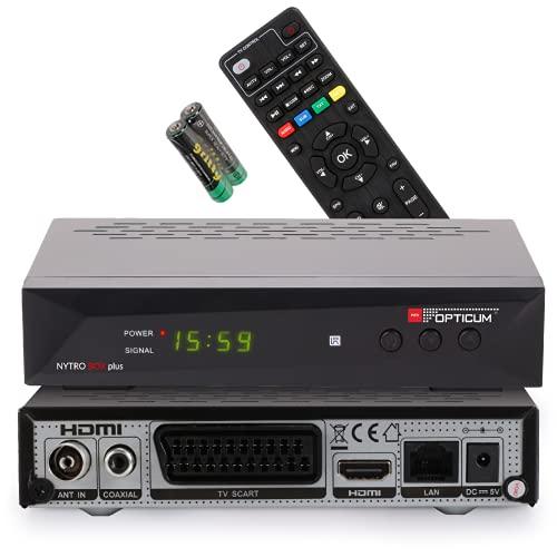 RED OPTICUM Nytro Box Plus Hybrid-Receiver HD-TV I DVB-C & DVB-T2 Receiver mit Aufnahmefunktion PVR - HDMI - USB - SCART - Coaxial Audio - Ethernet - LED Display I Digitaler Kabelreceiver