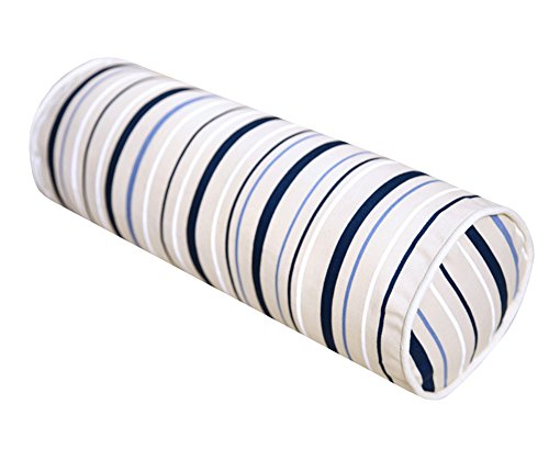 45 * 15cm, Coussins cylindriques, oreillers sur Le Dos du lit, Oreiller de Bureau Rayures Bleues et Blanches géométriques sur Le Paquet