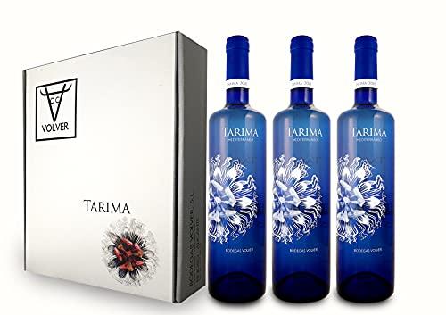 Pack 3 botellas Vino blanco Tarima Mediterráneo de Bodegas y Viñedos Volver. Variedades Moscatel y Messeguera. Vino de Alicante (3 x 750 ml)