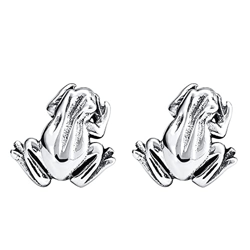 EQCETPF Women's Earrings - Chinese Style Frog Shape Retro Charm Ear Wrap Fine Jewelry Girl Fashion Bohemian Style Personality Lady Party Wedding Birthday Drop Accessories Lover Gift