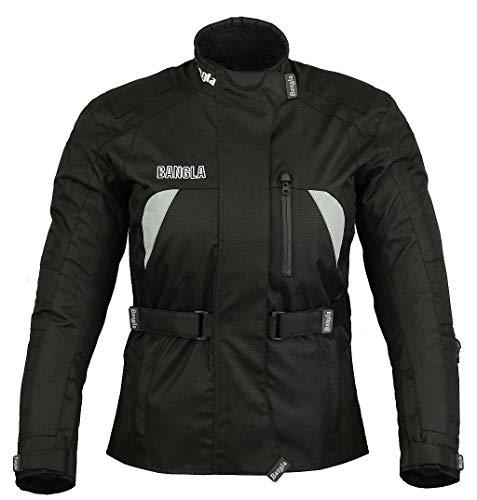 Ledershop-online Bangla B-08 Damen Motorradjacke Touren Jacke Cordura600D Schwarz M