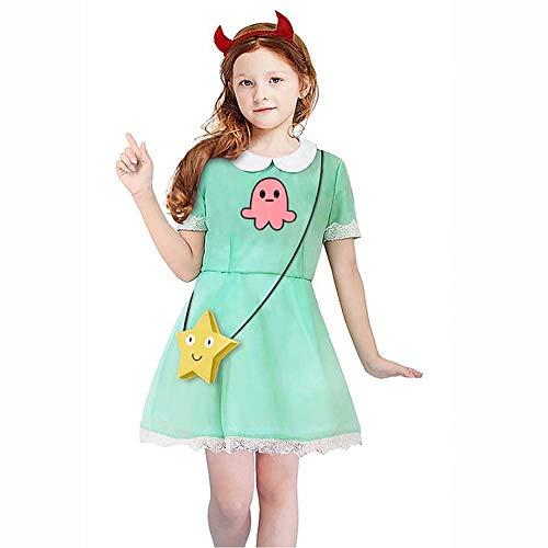 Disfraz de Cosplay de Star Butterfly, Disfraz de Princesa con Varita Mágica para Halloween Fiesta de Navidad Cosplay