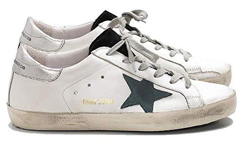 VCEGGDB Zapatillas de deporte casuales antideslizantes acogedoras GGDB zapatos de cuero de las mujeres Top bajo, color, talla 36.5 EU