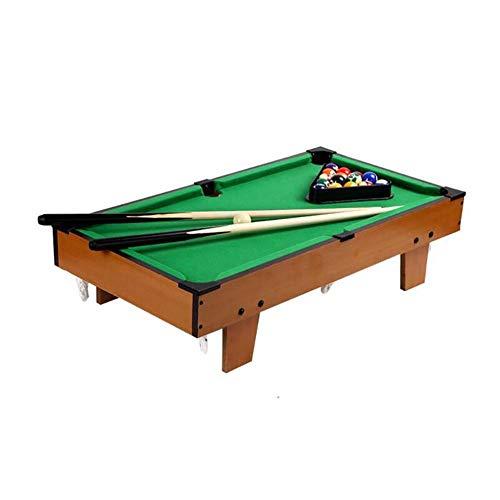 FXQIN Pool Tisch Billiard Table Tischspiel mit Zubehör, Spieltisch inkl. 2 Queues, 16 Billard und Triangel, Billardtisch Wooden Play Table Game für Kinder ab 4 Jahren Grün, 69x36.5x17 cm